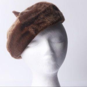 Accessories - Faux fur vintage style brown hat
